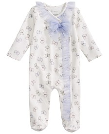 First Impressions Baby Girls Butterfly-Print Footed Tulle Coverall, Created for Macy's