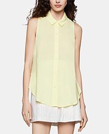 High-Low Drawstring Shirt