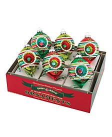 "Holiday Splendor 6 Count 3.25"" Decorated Reflector Tulips"
