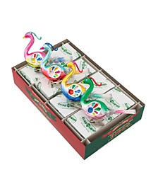 """Christmas Confetti 4 Count 5"""" Reflector Bird Clips"""