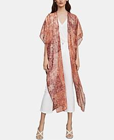 Printed Semi-Sheer Kimono