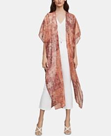 BCBGMAXAZRIA Printed Semi-Sheer Kimono