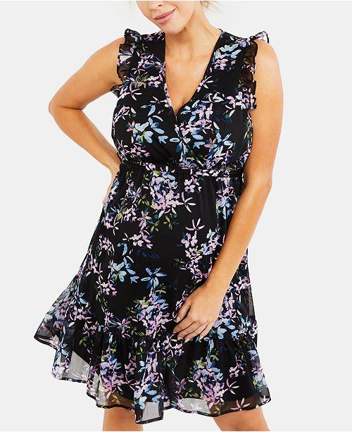 Motherhood Maternity Jessica Simpson Maternity Ruffled Dress