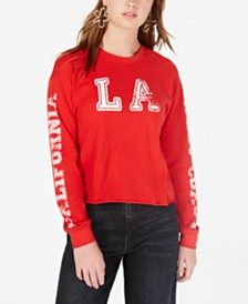 Rebellious One Juniors' LA Long-Sleeved Graphic T-Shirt