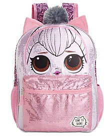FAB Little & Big Girls LOL Dolls Kitty Queen Reversible Sequin Backpack