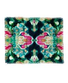 Crystal Schrader Botanical Jewels Woven Throw Blanket