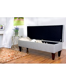Brooke Button Tufted Upholstered Storage Ottoman Bench