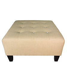 MJL Furniture Designs Max Button Tufted Upholstered Oversized Ottoman