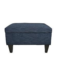 MJL Furniture Designs Brooklyn Square Upholstered Storage Ottoman