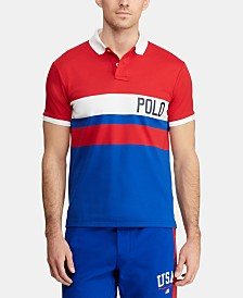 Polo Ralph Lauren Men's Big & Tall Chariots Classic-Fit Interlock Polo Shirt