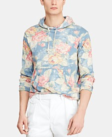Polo Ralph Lauren Men's Big & Tall Floral Spa Terry Hoodie