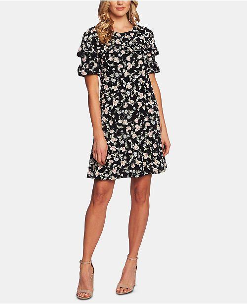 CeCe Ruffle-Sleeve Shift Dress