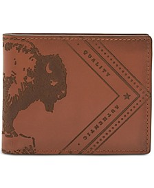 Men's Everett Embossed Flip-ID Leather Wallet