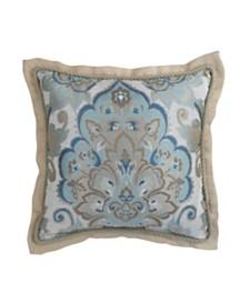Croscill Emery 18x18 Square Pillow Decorative Pillow