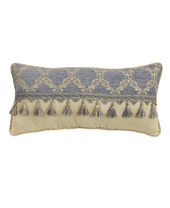 "Croscill Nadia 22"" x 11"" Boudoir Decorative Pillow"
