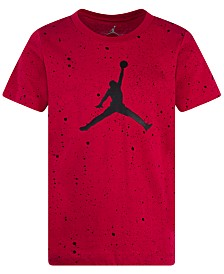Jordan Speckled Graphic-Print Cotton T-Shirt, Big Boys