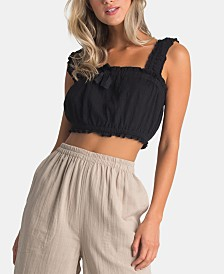 Billabong Juniors' Textured Crop Top
