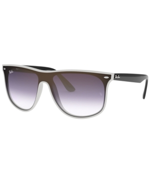 Ray Ban Ray-Ban Sunglasses, Rb4447N 40 In White Demishiny/Grad Violet Grad Blue Ar Ext G