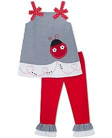 Rare Editions Toddler Girls 2-Pc. Ladybug Tunic & Capri Leggings Set