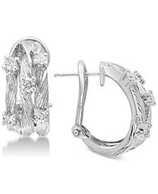 D'Oro by EFFY® Diamond Vine Earrings (5/8 ct. t.w.) in 14k White Gold