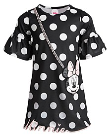 Little Girls Dot-Print Minnie Purse Dress, Created for Macy's
