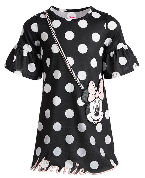 Disney Little Girls Dot-Print Minnie Purse Dress, Created for Macy's