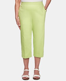 Alfred Dunner Petite Cayman Islands Button-Trim Cropped Pants