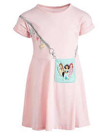 Disney Little Girls Three Princesses Purse Dress, Created for Macy's