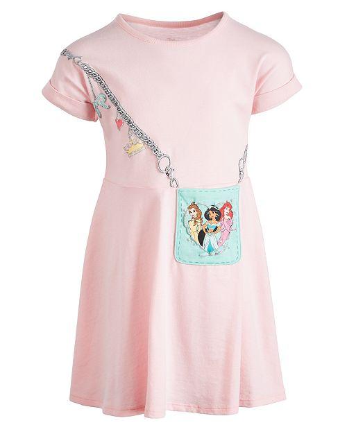 Disney Toddler Girls Three Princesses Purse Dress, Created for Macy's