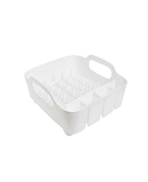 Umbra Tub Dish Rack, White