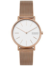 Women's Signatur Rose Gold-Tone Stainless Steel Mesh Bracelet Watch 38mm