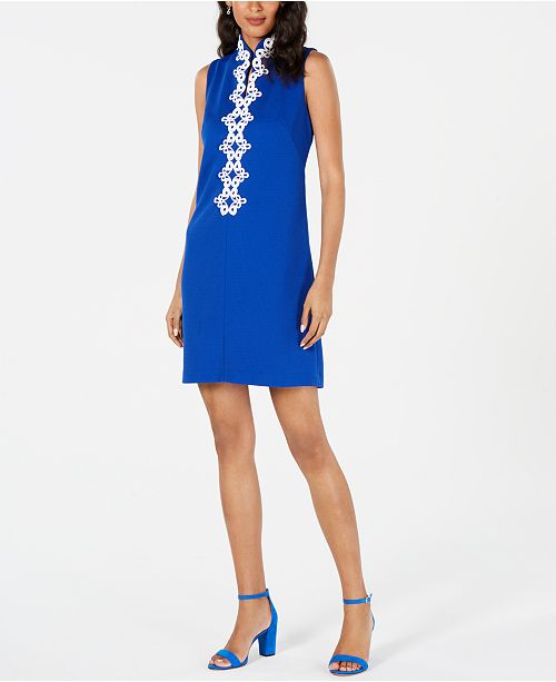 Jessica Howard Embroidered-Trim Dress