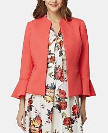 Tahari ASL Zippered Bell-Sleeve Blazer