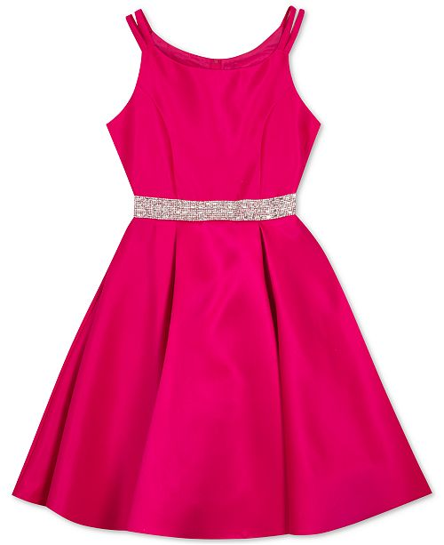 Rare Editions Big Girls Satin Skater Dress