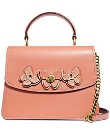 COACH Parker Butterfly Appliqué Leather Satchel