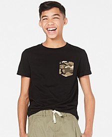 Big Boys Camo-Pocket T-Shirt, Created for Macy's