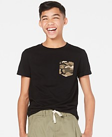 Epic Threads Big Boys Camo-Pocket T-Shirt, Created for Macy's