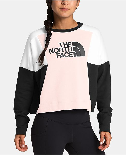 The North Face Women's Train N Logo Cropped Pullover Sweatshirt