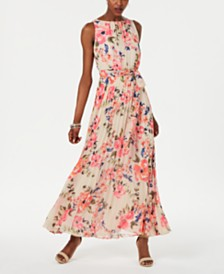 Jessica Howard Petite Floral Pleated Maxi Dress