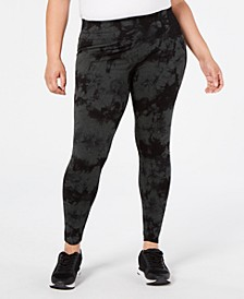 Plus Size Tie-Dyed High-Waist Leggings