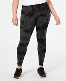 Calvin Klein Performance Plus Size Tie-Dyed High-Waist Leggings