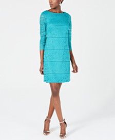 Jessica Howard Allover-Lace Sheath Dress