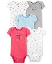 9833e0828163d Carter's Baby Girls 5-Pk. Cotton Bodysuits