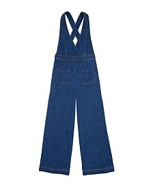 Bebe Girls Denim Wide Leg Overall