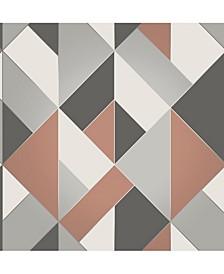 "Delano Structured Geo Wallpaper - 396"" x 20.5"" x 0.025"""