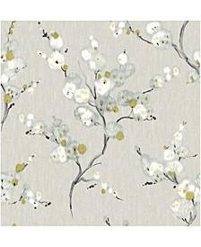 "Bliss Blossom Wallpaper - 396"" x 20.5"" x 0.025"""