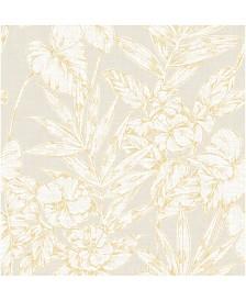 "Brewster Home Fashions Fiji Floral Wallpaper - 396"" x 20.5"" x 0.025"""
