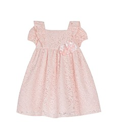 Short Sleeve Allover Lace Dress