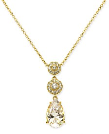 "Danori Cubic Zirconia Pendant Necklace, 16"" + 1"" extender, Created for Macy's"