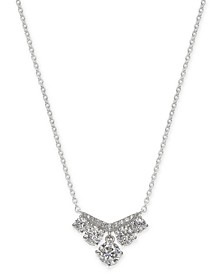 "Cubic Zirconia Statement Necklace, 16"" + 1"" extender, Created for Macy's"